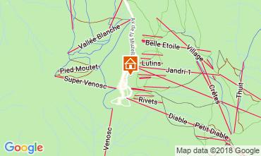 Karte Les 2 Alpes Studio 1166