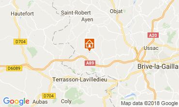 Karte Brive-la-Gaillarde Ferienunterkunft auf dem Land 113617