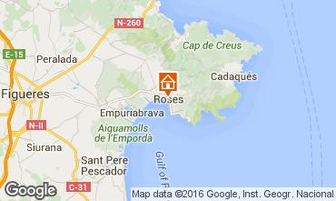 Karte Rosas Appartement 102234