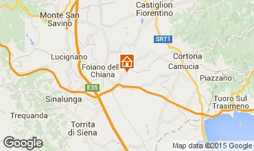 Karte Cortona Ferienunterkunft auf dem Land 14779