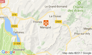Karte La Clusaz Chalet 74186