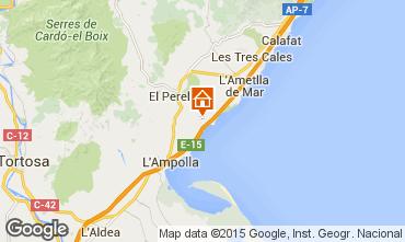 Karte La Ametlla de Mar Chalet 102063