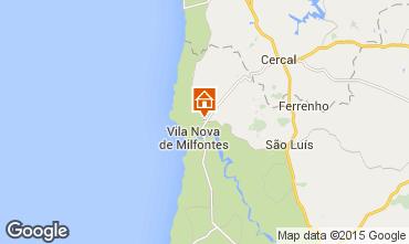 Karte Vila nova de Milfontes Ferienunterkunft auf dem Land 40457