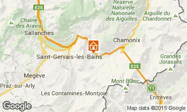 Karte Chamonix Mont-Blanc Chalet 686