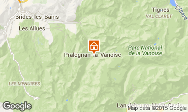 Karte Pralognan la Vanoise Ferienunterkunft auf dem Land 2290