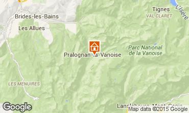 Karte Pralognan la Vanoise Appartement 25582