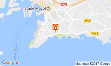 Karte Toulon Studio 107828