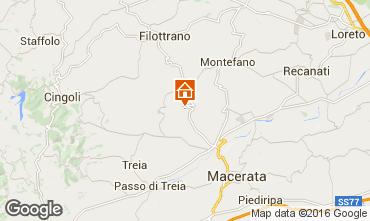 Karte Macerata Ferienunterkunft auf dem Land 17670
