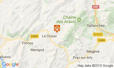 Karte La Clusaz Appartement 73326