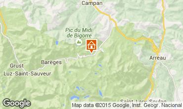 Karte La Mongie Appartement 4328