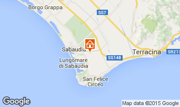 Karte Sabaudia Appartement 72034