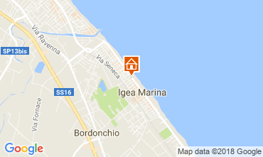 Karte Bellaria Igea Marina Appartement 114507