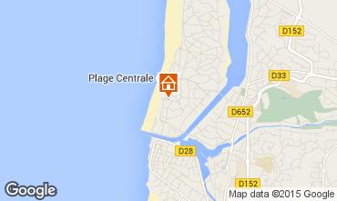 Karte Hossegor Appartement 17405