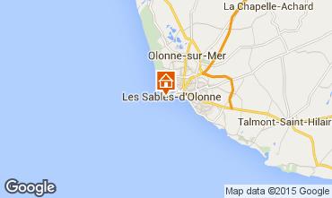 Karte Les  Sables d'Olonne Appartement 70662