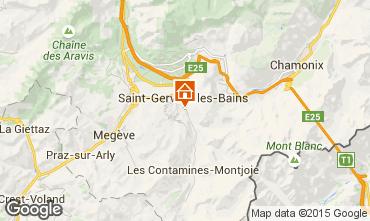 Karte Saint Gervais Mont-Blanc Chalet 48749