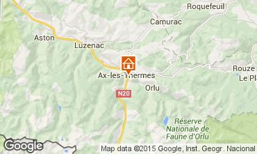 Karte Ax Les Thermes Appartement 99264