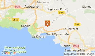 Karte La Ciotat Ferienunterkunft auf dem Land 113500