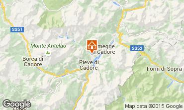 Karte Cortina d'Ampezzo Appartement 40563