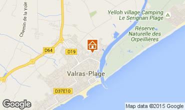 Karte Valras-Plage Appartement 69389