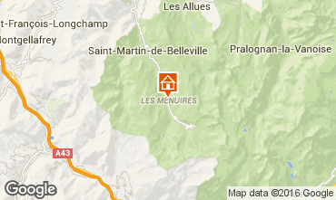Karte Les Menuires Studio 73390