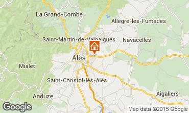 Karte Alès Ferienunterkunft auf dem Land 68431