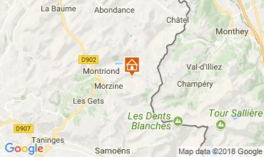 Karte Morzine Chalet 114335