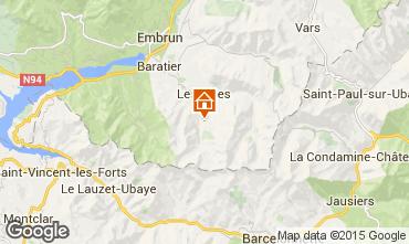 Karte Les Orres Studio 2096