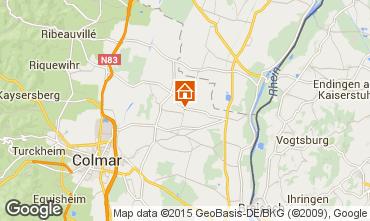 Karte Colmar Ferienunterkunft auf dem Land 13081
