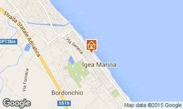 Karte Bellaria Igea Marina Appartement 31595