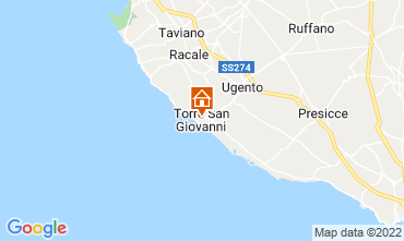Karte Ugento - Torre San Giovanni Appartement 101983