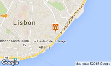 Karte Lissabon Appartement 74082
