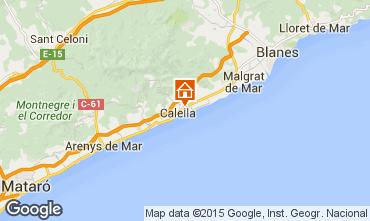 Karte Calella de Mar Appartement 8169