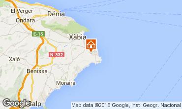 Karte Jávea Villa 91445