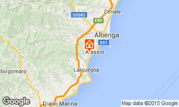 Karte Alassio Appartement 66840