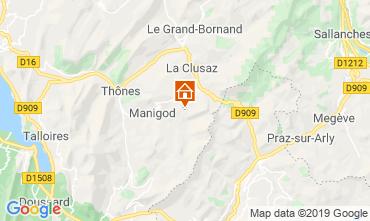 Karte La Clusaz Appartement 112201