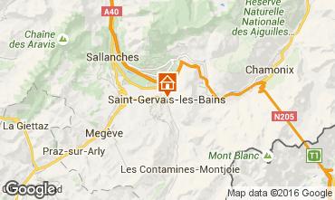 Karte Saint Gervais Mont-Blanc Studio 103150