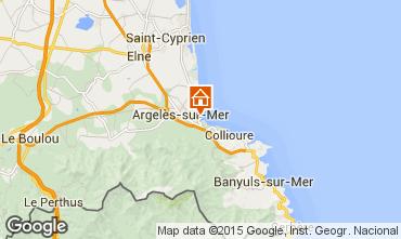 Karte Argeles sur Mer Appartement 51541