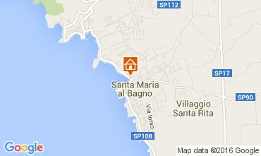 Karte Santa Maria al Bagno Appartement 69201
