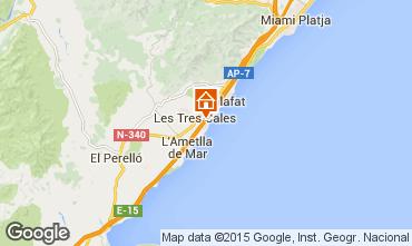 Karte La Ametlla de Mar Chalet 77819