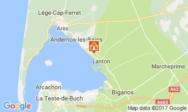 Karte Andernos les Bains Ferienunterkunft auf dem Land 103208
