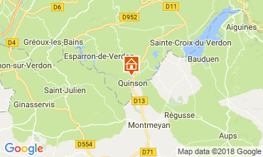Karte Sainte-Croix-du-Verdon Villa 114381