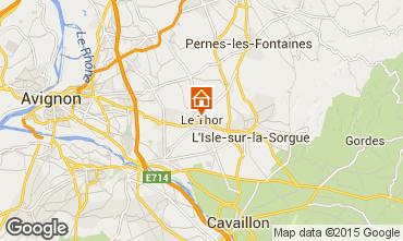 Karte Avignon Ferienunterkunft auf dem Land 79746