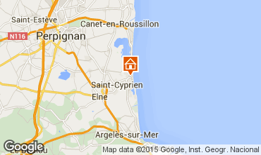 Karte Saint Cyprien Plage Studio 8732