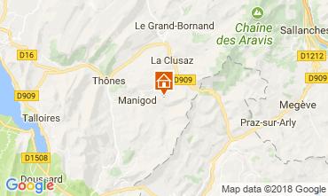 Karte Manigod-Croix Fry/L'étale-Merdassier Appartement 67225