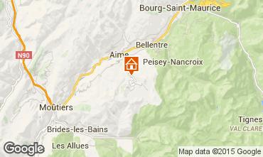 Karte La Plagne Chalet 2154