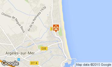Karte Argeles sur Mer Appartement 87823