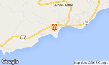 Karte Sainte Anne (Guadeloupe) Bungalow 8023