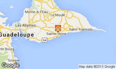 Karte Sainte Anne (Guadeloupe) Ferienunterkunft auf dem Land 54345