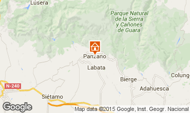 Karte Alquézar Ferienunterkunft auf dem Land 75993