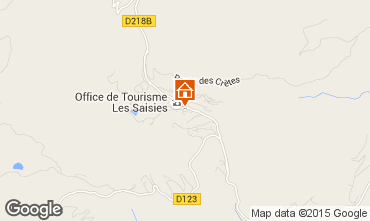 Karte Les Saisies Studio 70264